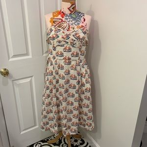 Anthropologie Strapless Bicycle Dress